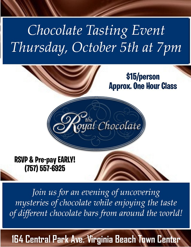 chocolate tasting event virginia beach october