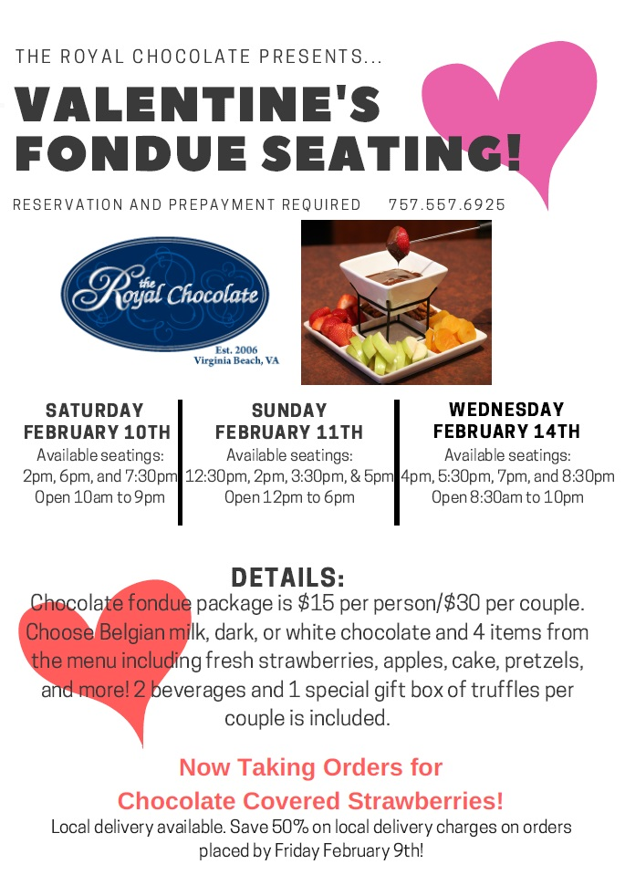 Valentines Day Fondue Virginia Beach