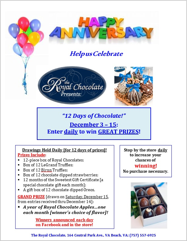 12 days of chcolate