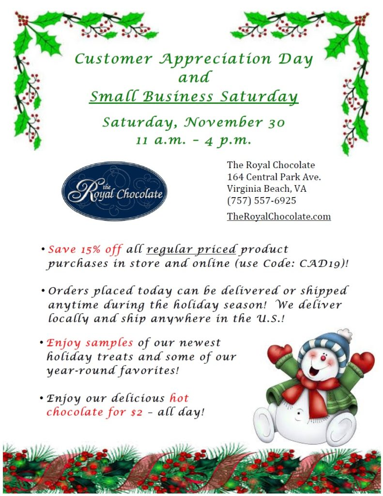 royal chocolate customer appreciation day 2019