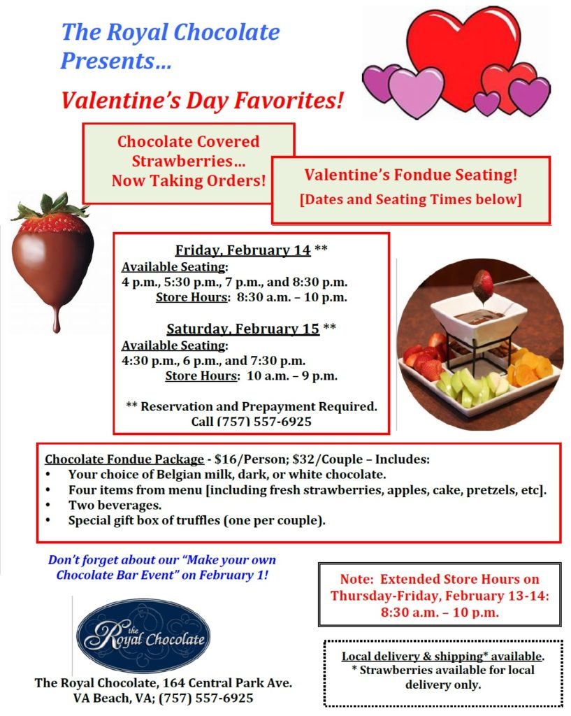 Valentines Day Virginia Beach fondue