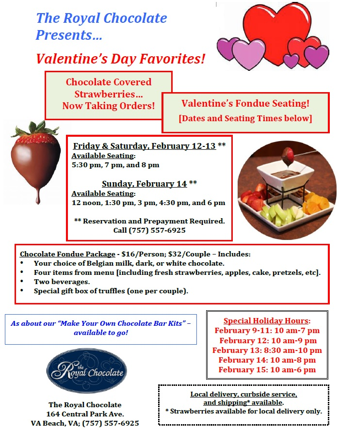 valentines day date ideas Virginia Beach